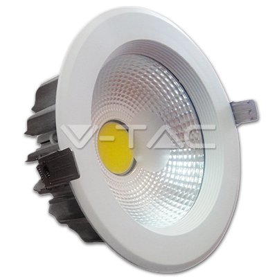 20W LED COB Downlight Reflector White Body - White