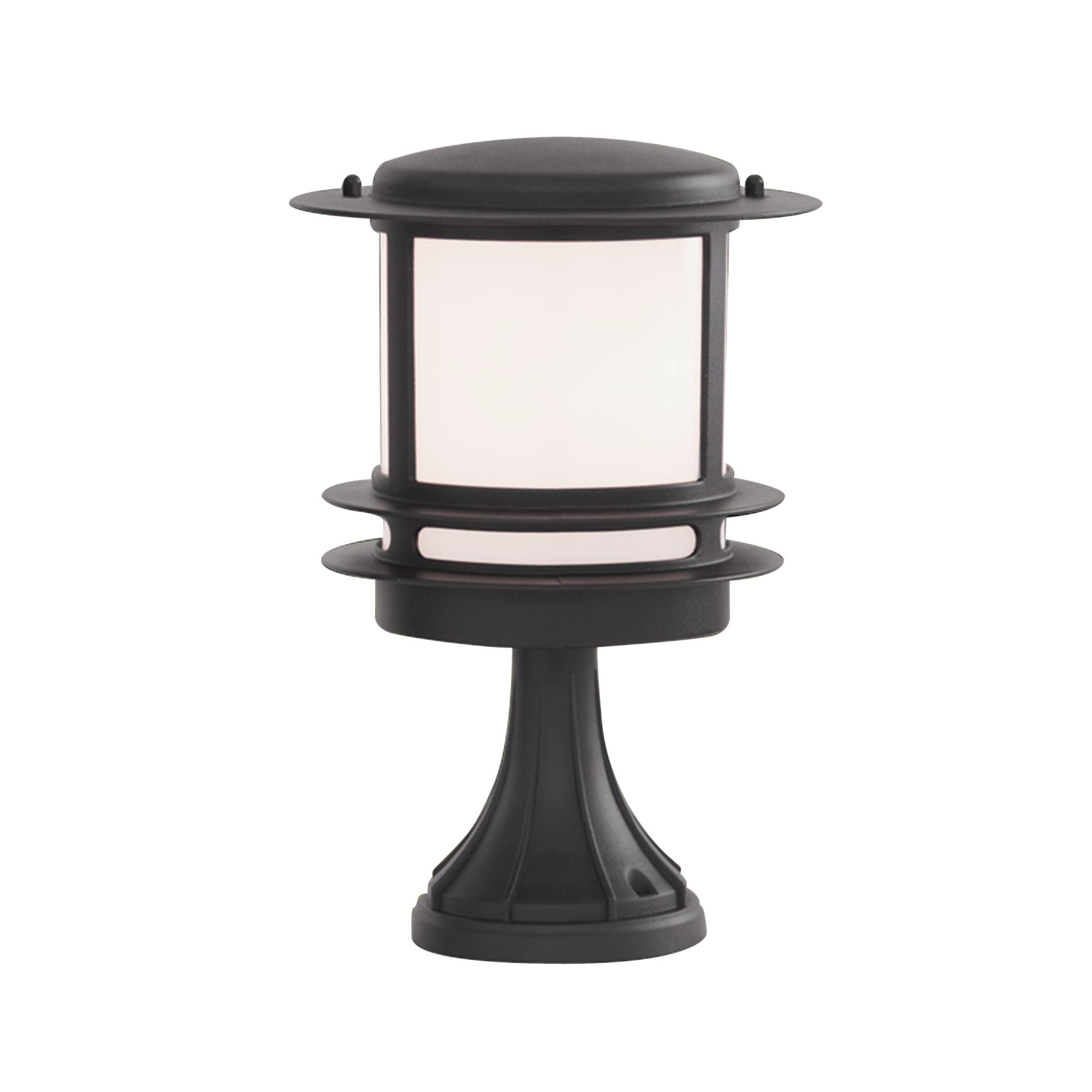 STROUD BOLLARD/POST LAMP - BLACK ALLUMINIUM