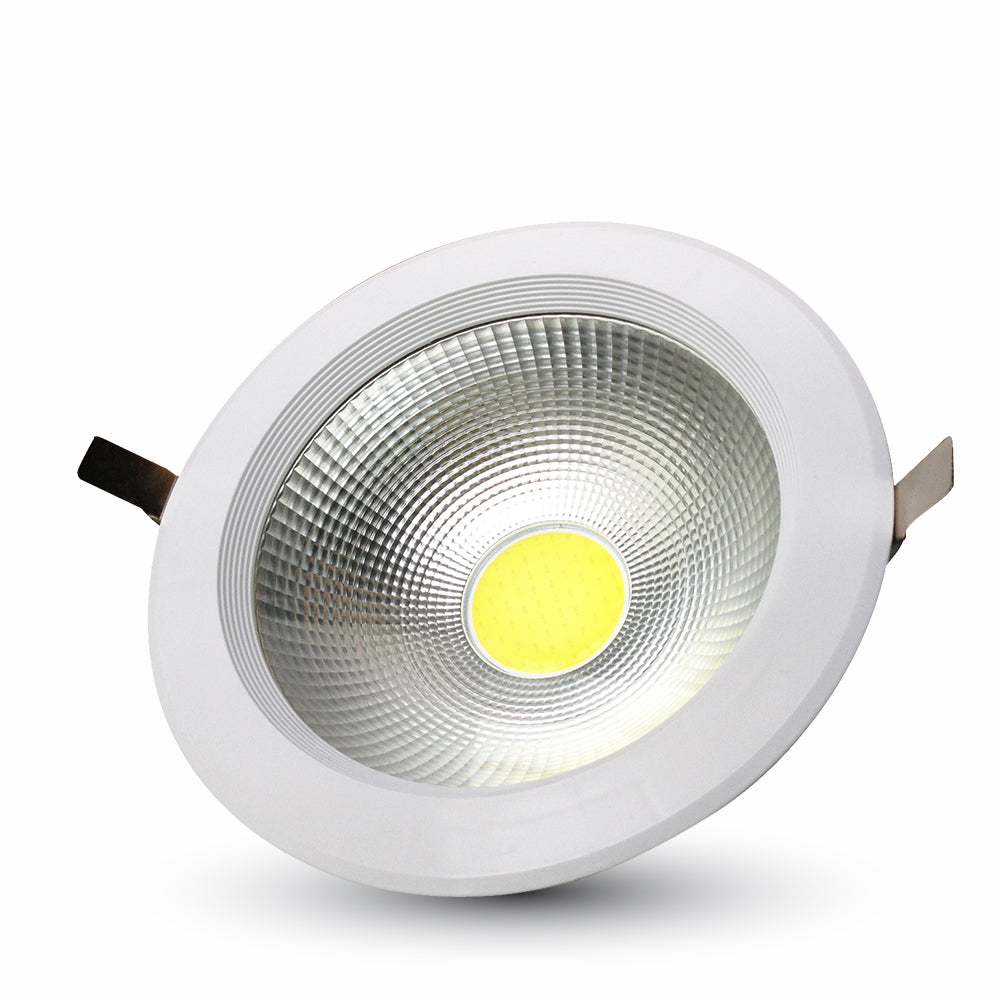 30W LED COB Downlight Round A++ 120Lm/W White