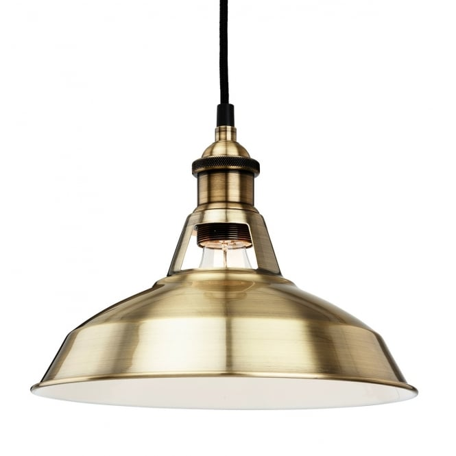 Albany Pendant Light Antique Brass