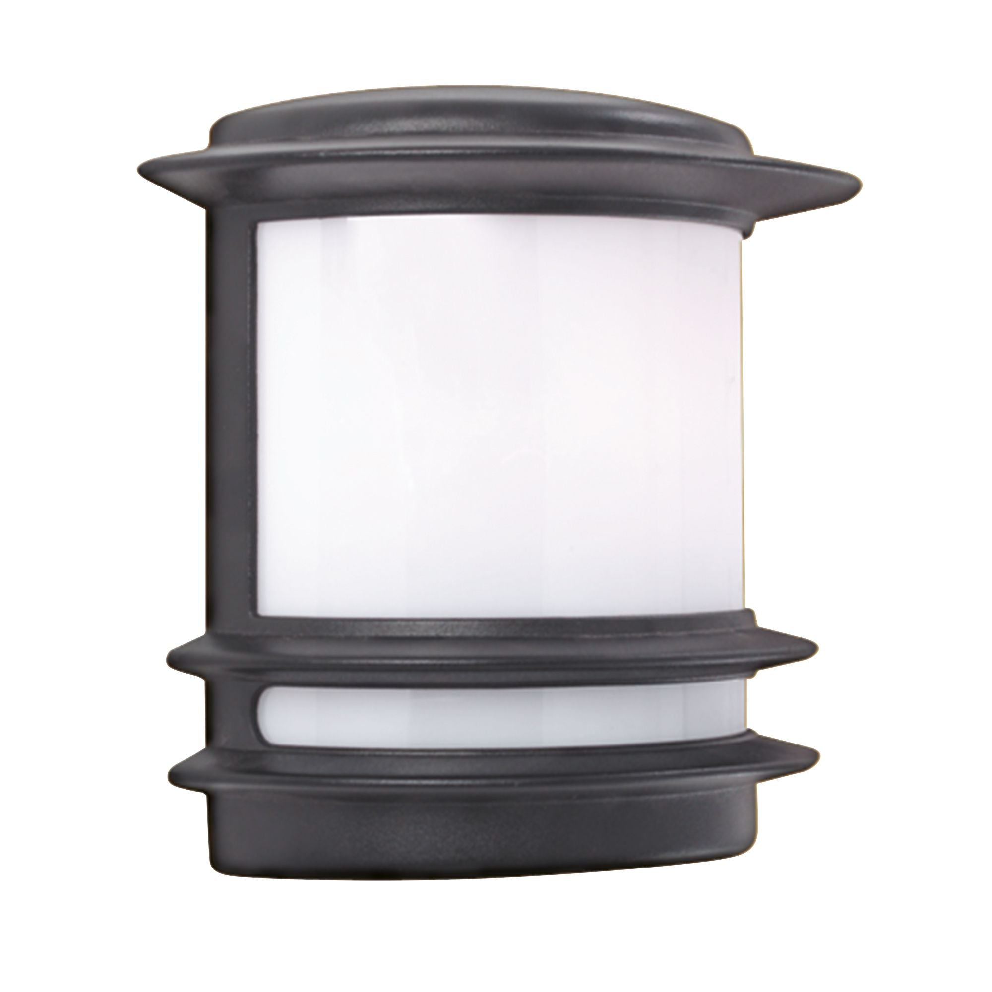 STROUD BOLLARD/POST OUTDOOR HALF WALL LIGHT BLACK ALUMINIUM