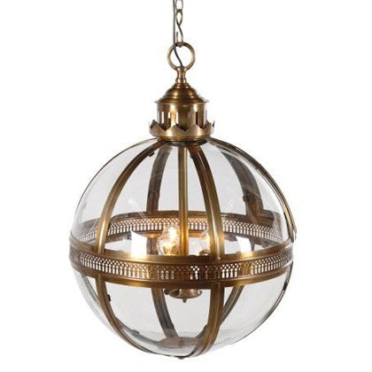 Antique Bronze Glass Ball Light