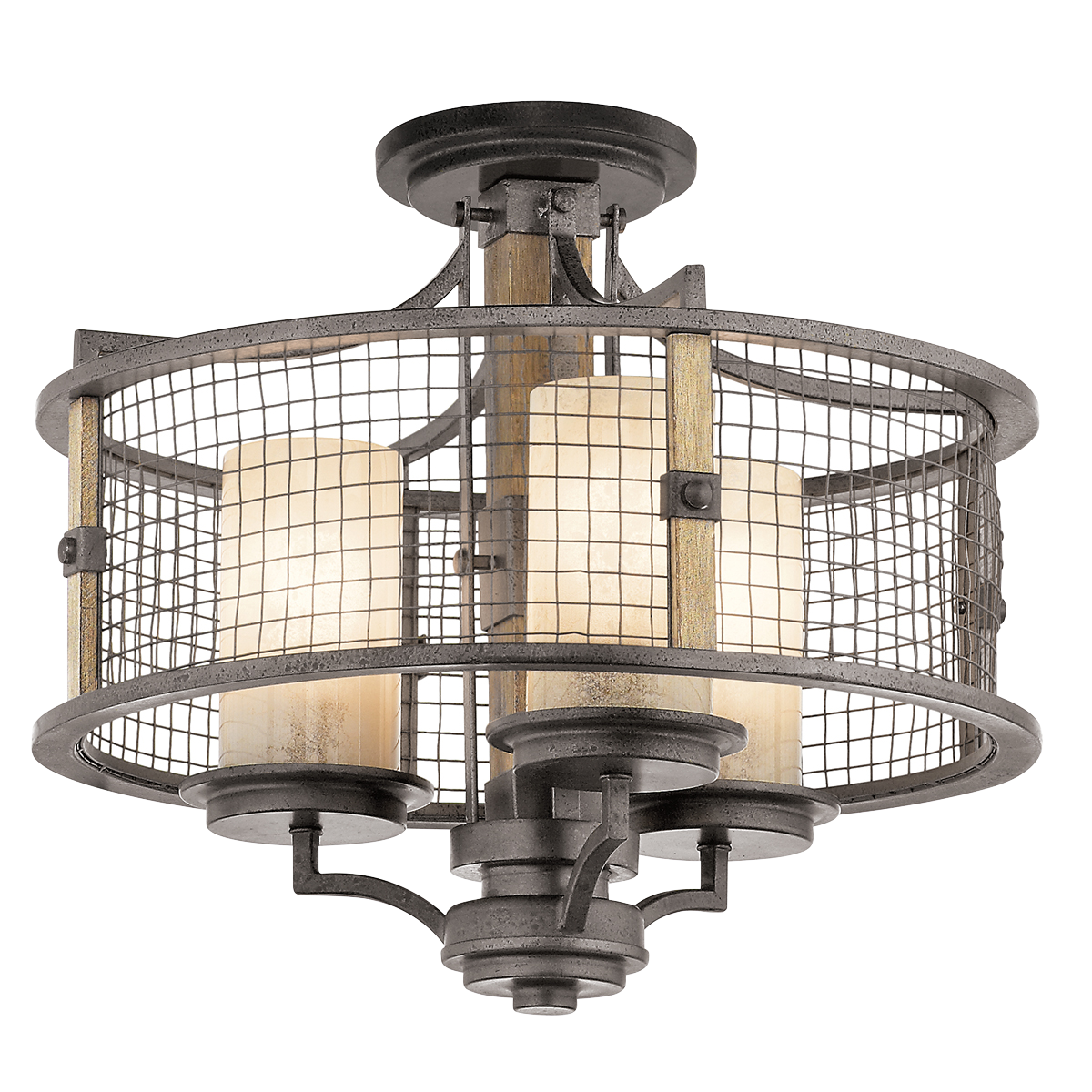 Ahrendale 3 Light Chandelier/Semi Flush