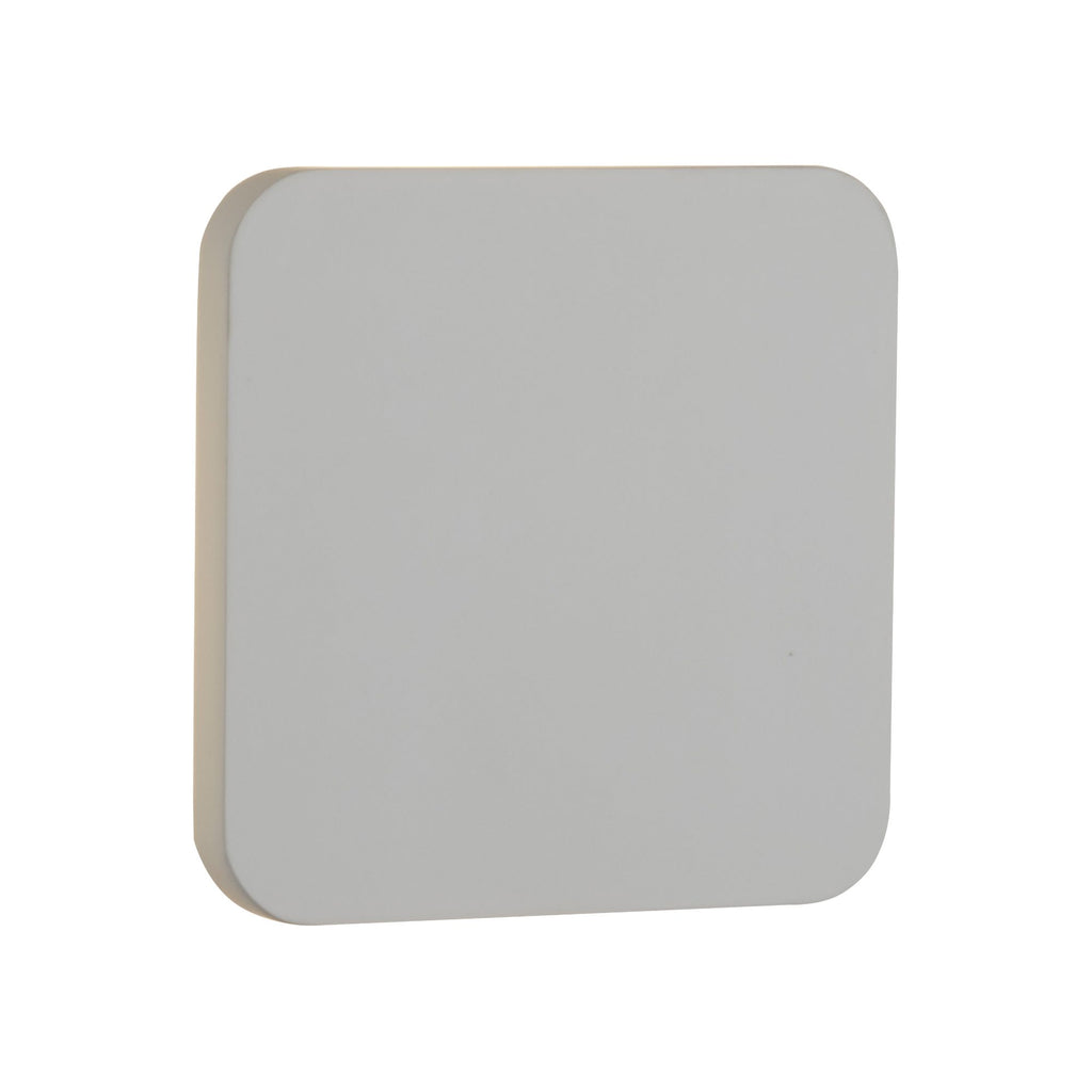 GYPSUM 4W LED RECESSED WHITE PLASTER WALL LIGHT