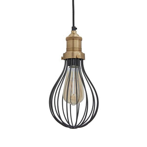 IndustvilleOrlando Vintage Balloon Cage Pendant Light
