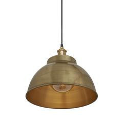 Industville Brooklyn Vintage Metal Dome Pendant Light
