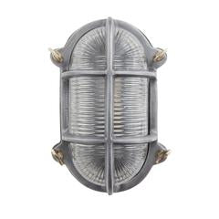 Industville Vintage Industrial Oval Heavy Bulkhead Retro Wall Light/Flush Mount