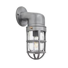 Industville Vintage Industrial Cage Bulkhead Wall Light Sconce with Glass 30cm