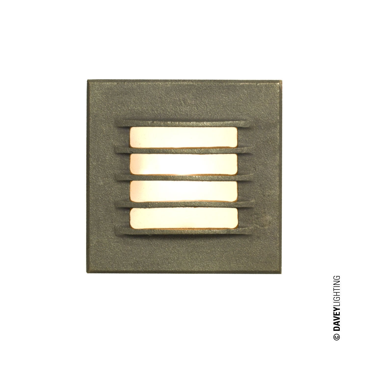 LOW VOLTAGE RECESSED STEP LIGHT, BACK BOX, SANDBLASTED BRONZE