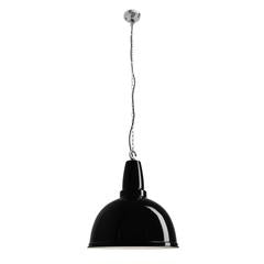 Industville Large Retro Industrial Metal Pendant Bar Light - Black - 17 inch