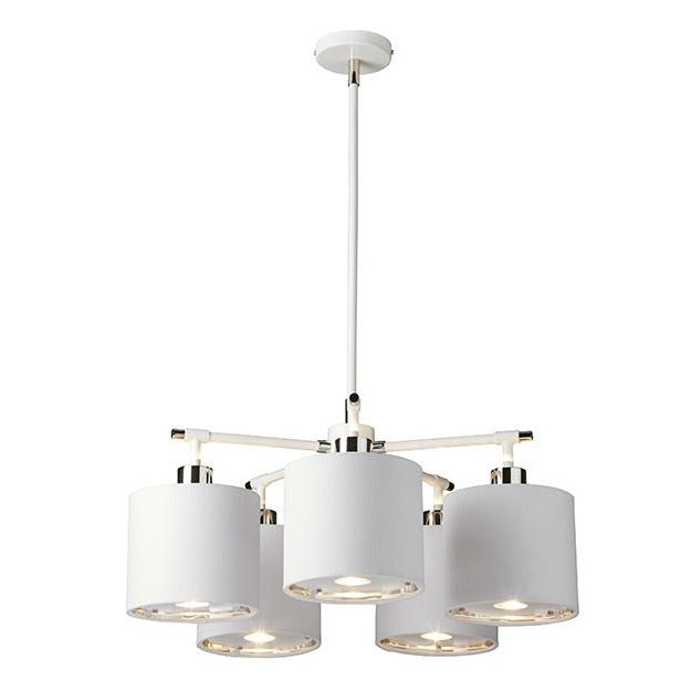 Balance 5lt Chandelier White/Polished Nickel