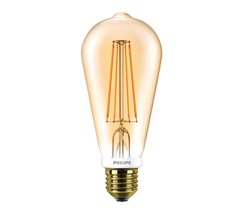 Philips CLA LED Bulb D 7-50W ST64 E27 820 GOLD