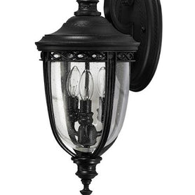 English Bridle 3Lt Medium Wall Lantern Black