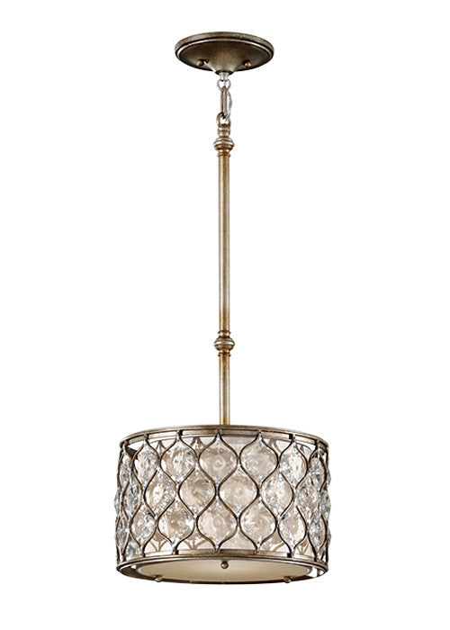 Lucia Pendant Light 1 Light Pendant With Linen Fabric