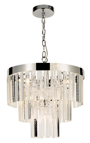 7L CHROME/GLASS PENDANT G9 33W