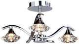 3 X G9 40W SEMI FLUSH FITTING IN CHROME