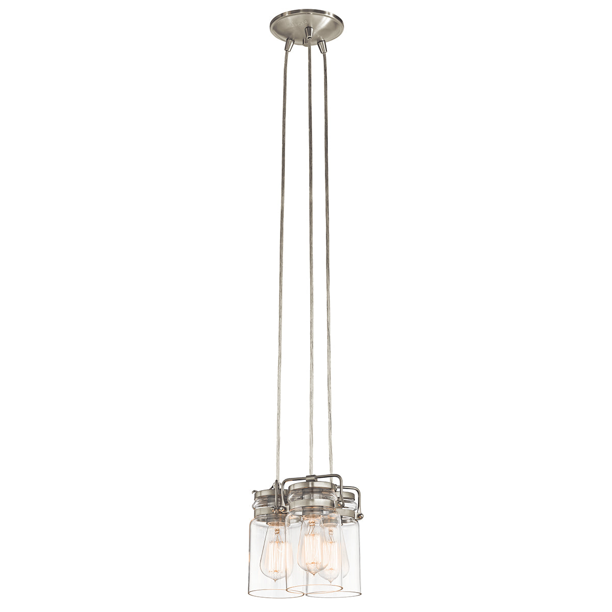 Brinley 3lt Pendant Brushed Nickel