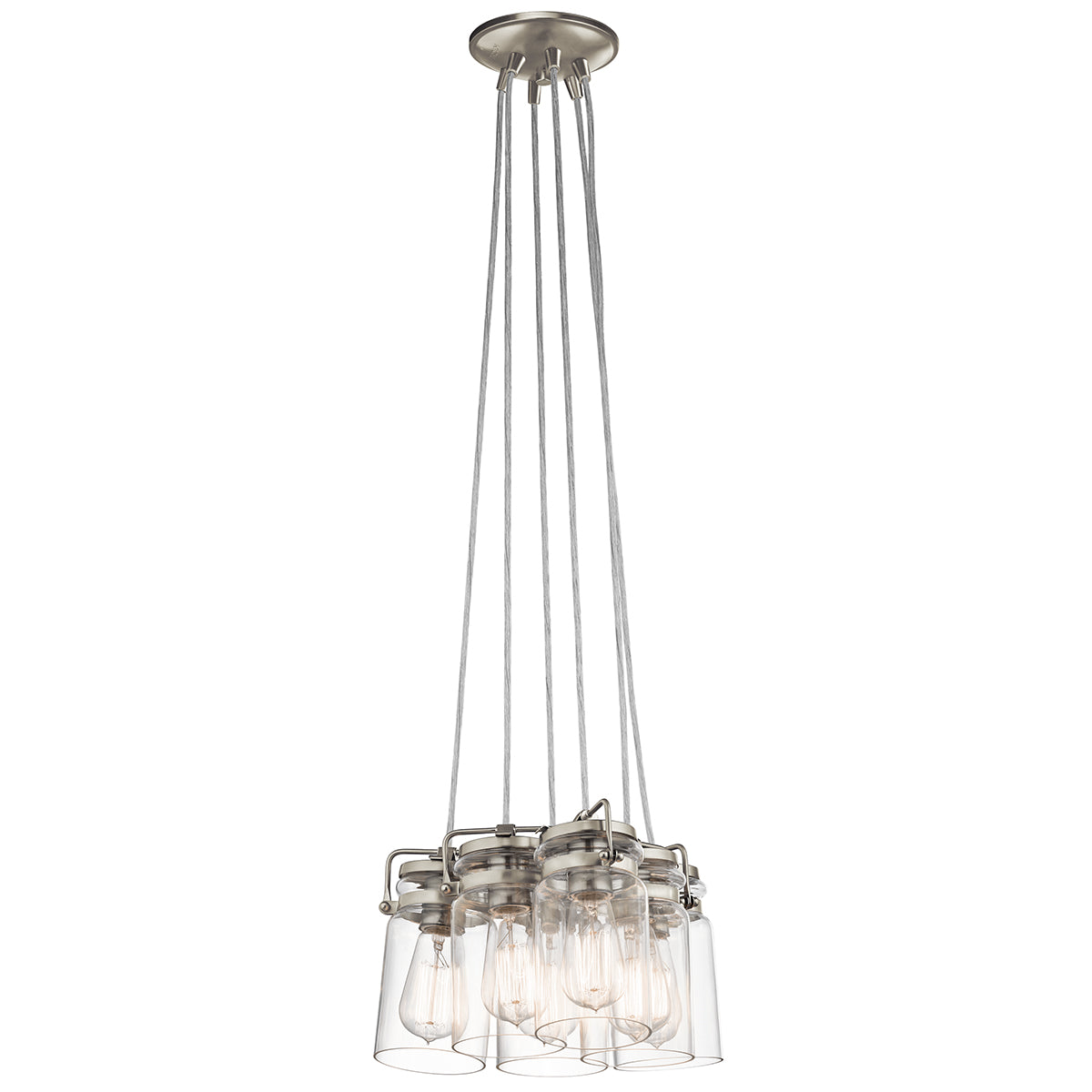Brinley 6lt Pendant Brushed Nickel