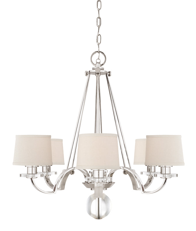 Sutton Place 6Lt Chandelier