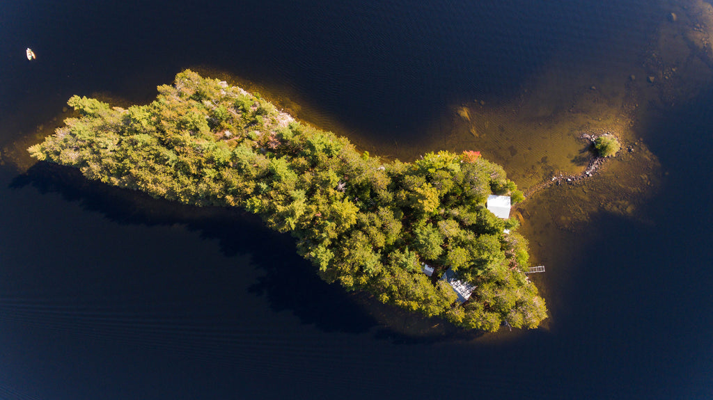 Tight Little Island from above