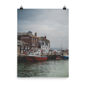 Weymouth Harbour on a rainy day