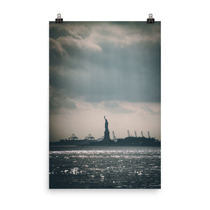 Statue of Liberty seen from main land