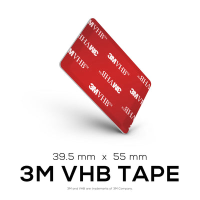 VHB Adhesive Pads + Cable Ties -  Rectangle - 39.5mm x 55mm