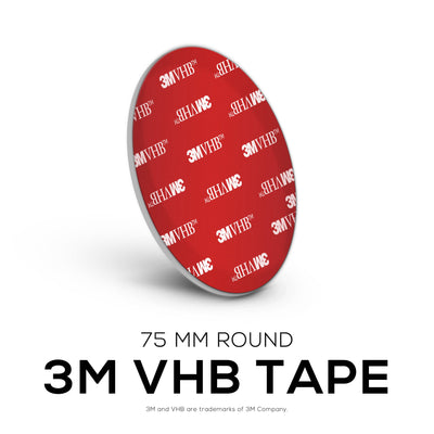 VHB Adhesive Pads + Cable Ties -  Round - 75mm