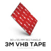VHB Adhesive Pads + Cable Ties -  Rectangle - 80 x 55 mm