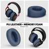 Headphone Memory Foam Earpads - Oval - Angled PU Leather (Various Colours)