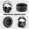 Headphone Memory Foam Earpads - XL Size - Perforated PU Leather