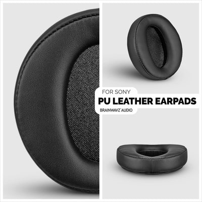 Sony MDR-XB950BT Faux Leather Replacement Earpads - Suitable for other XB series Headphones