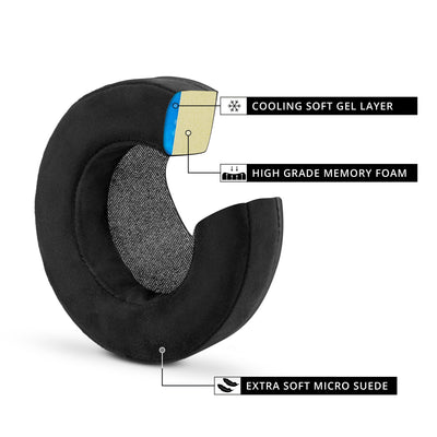 Brainwavz GEL Gaming Earpads - XL - Micro Suede with Memory Foam