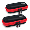 Earphone Hard Carrying Case Wide - 2 Pack