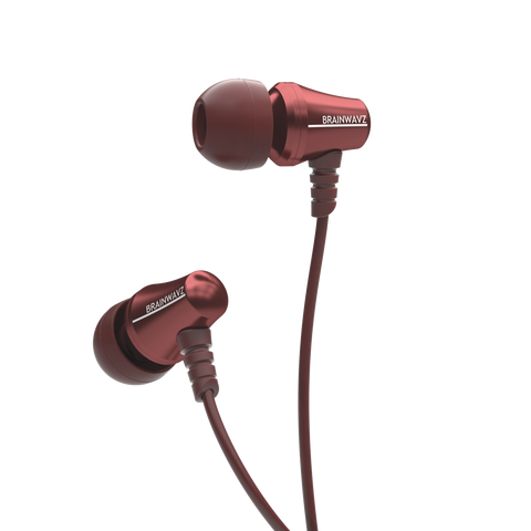 Jive Noise Isolating IEM Earphones w/ 3 Button Remote & Microphone - Red
