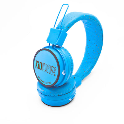 Kidwavz KV-100 Childrens Wireless Bluetooth Volume Limited Headphones - Blue