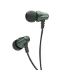 Jive Noise Isolating IEM Earphones w/ 3 Button Remote & Microphone - Green