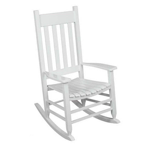 Traditional White Wooden Garden Furniture Rocking Chair For Grandparents Gift,Tigerfn Shop