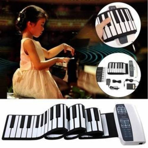 Professional lightweight 88 Key Roll Up Keyboards & Piano with Dual-core speaker, Tigerfn Shop