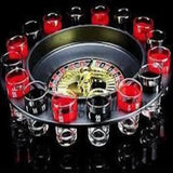 Novelty Roulette Drinking Game Set with 16 Shot Glasses