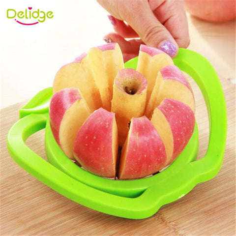 1pc Apple Cutter Plastic Stainless Steel  Fruit Slicer