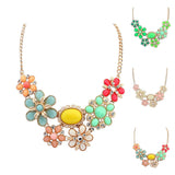 Statement  Flower Vintage Collar Necklaces & Pendants  For Women & Girls