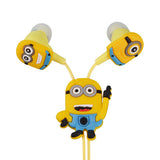 Minions Cartoon In-ear Wired 3.5 mm Earphone for  Mobile Phone With Earplug Cover