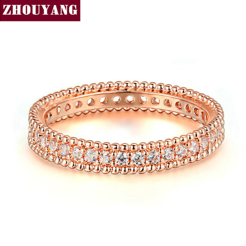 Rose Gold Plated Simple Classic Wedding & Engagement Ring Jewelry Made