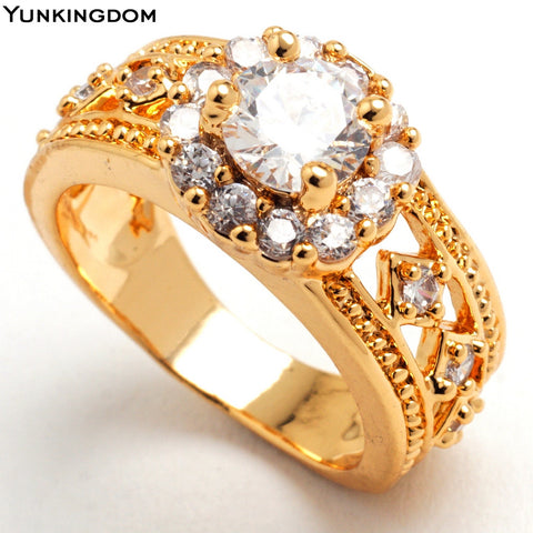 Romantic wedding ring  Filled top quality jewelry 6 colors