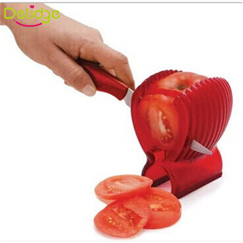 1 pcs Tomato Slicer Holder Food-Grade Plastic Holder Cutter