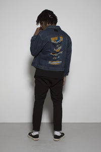 African Soweto Denim Jacket