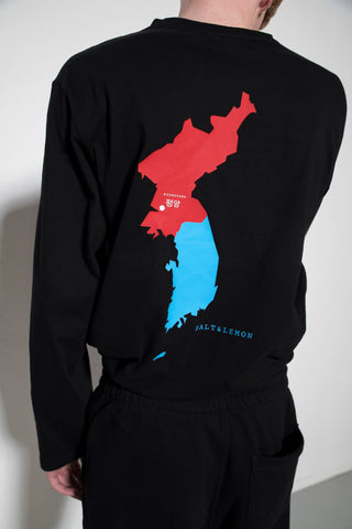 Korea Map Long sleeve Shirt