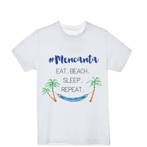 Camiseta Hombre #Mencanta Eat. Beach. Sleep. Repeat.