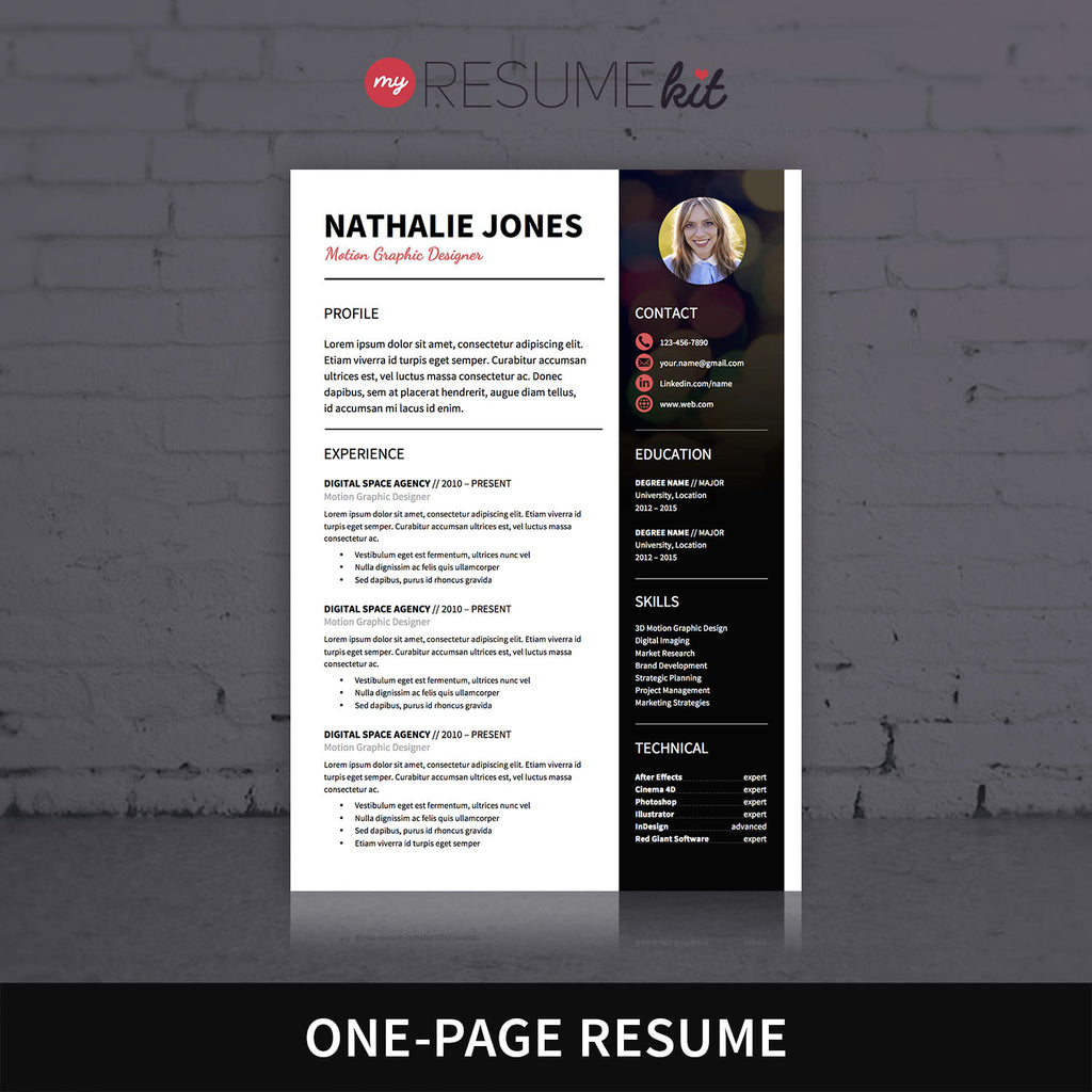 Resume Template For Word Theme